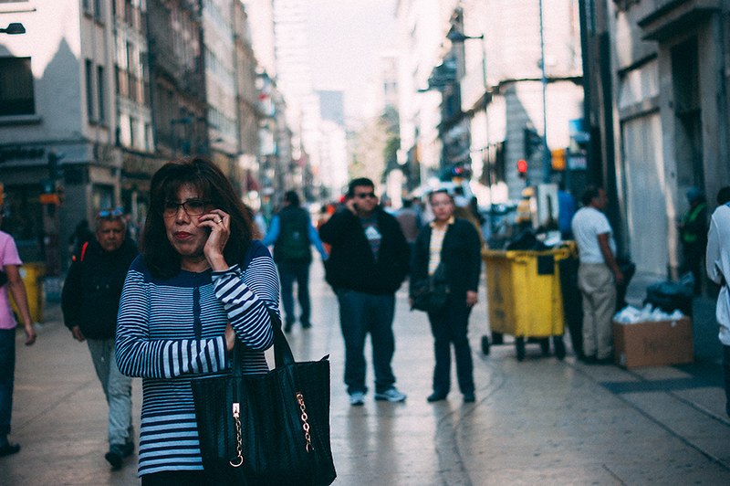 person talking on the phone