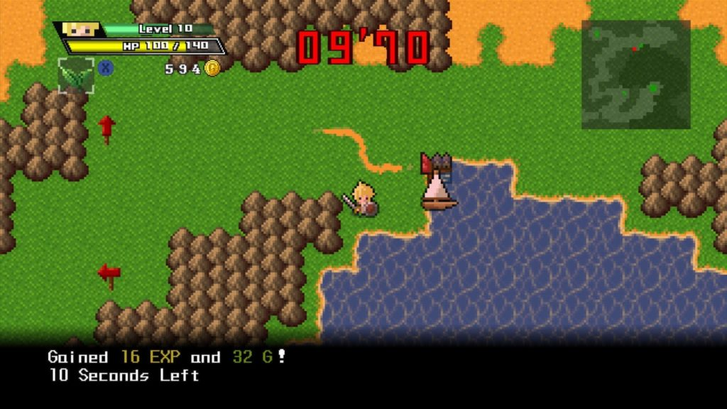half-minute hero screen capture video game localization example
