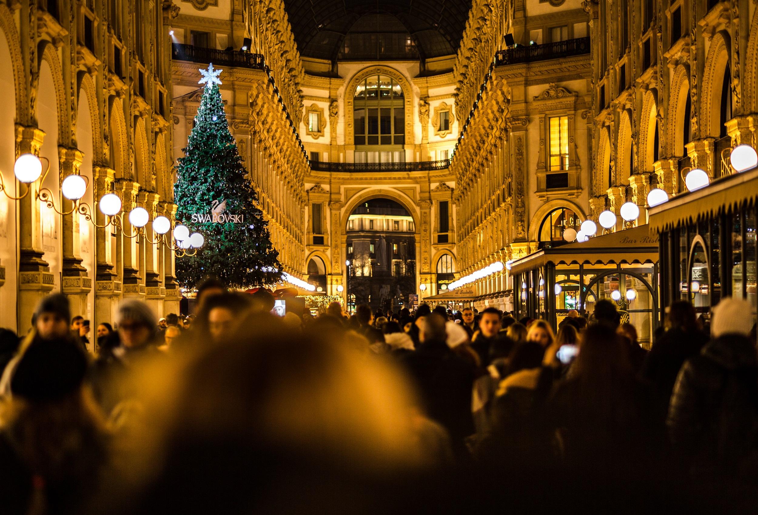 Milan, Italy during Christmas