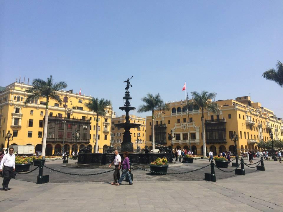 Plaza in Lima, Peru