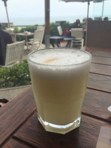 Pisco sour in Lima, Peru