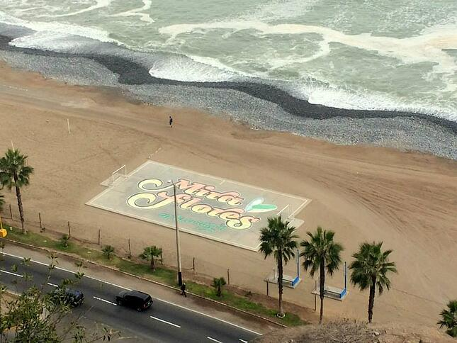 Miraflores beach, neighbordhood in Lima