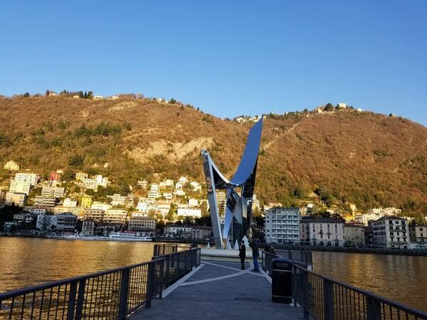 Life Electric sculpture in Como, Italy