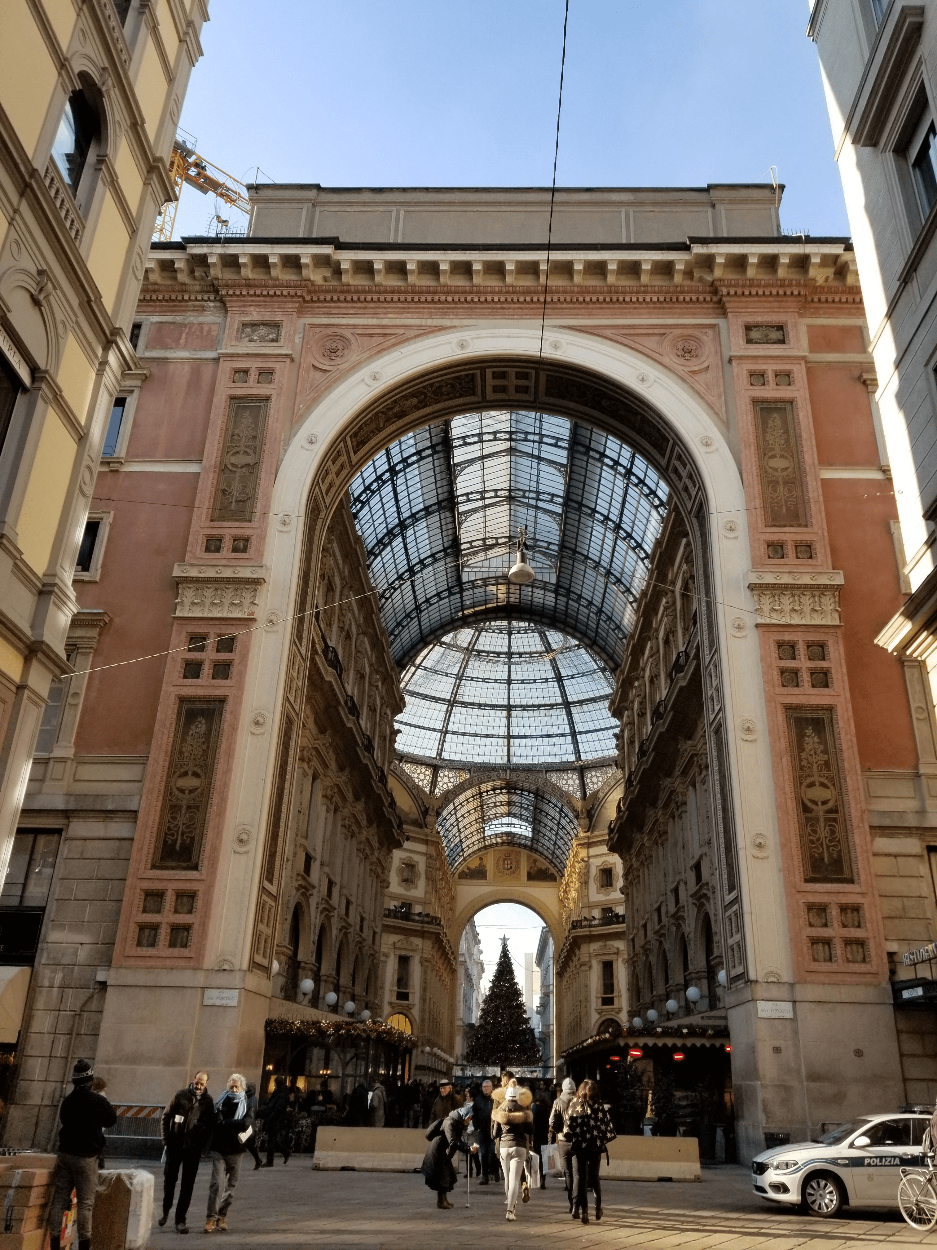 Inside the Galleria Vittorio Emanuele II in Milan, Italy