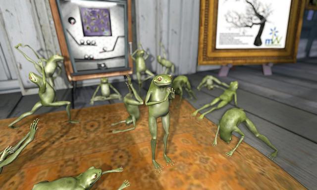 Terpii frogs doing yoga