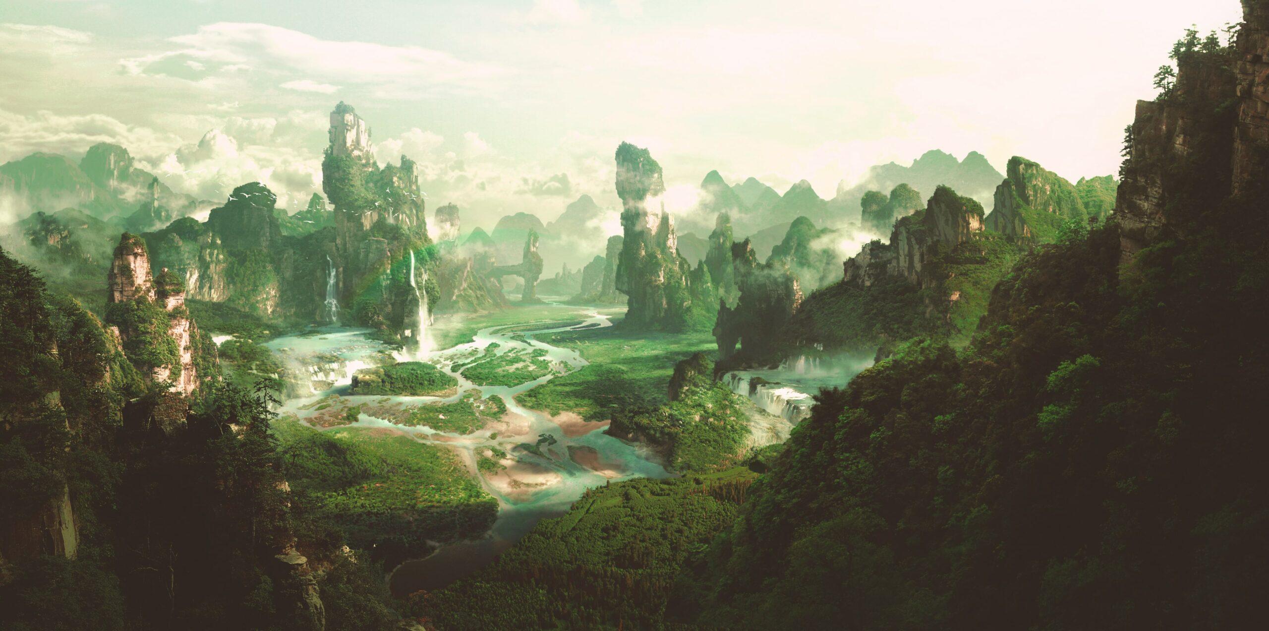 Fantasy looking landscape