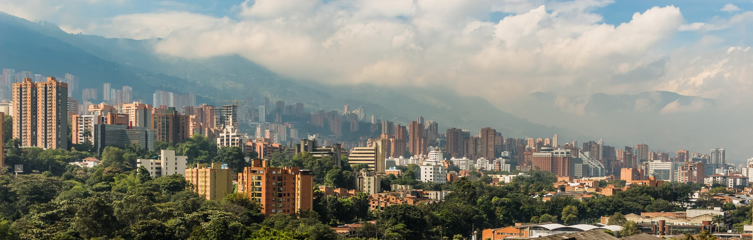 Panoramic view of a city in Colombia