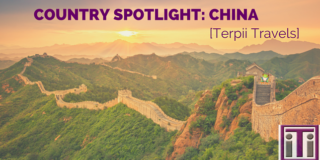 Country spotlight, China. Great wall of China
