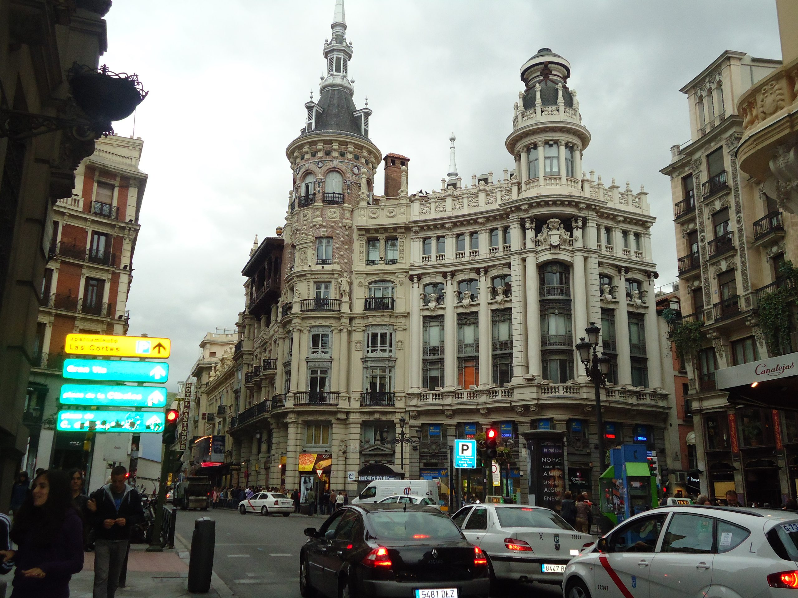 Avenida Gran Via in Madrid, Spain