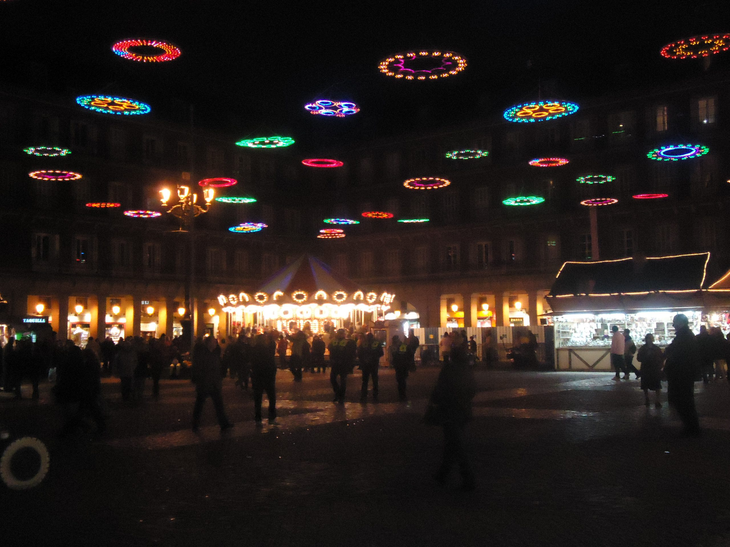 Plaza Mayor Christmas decorations