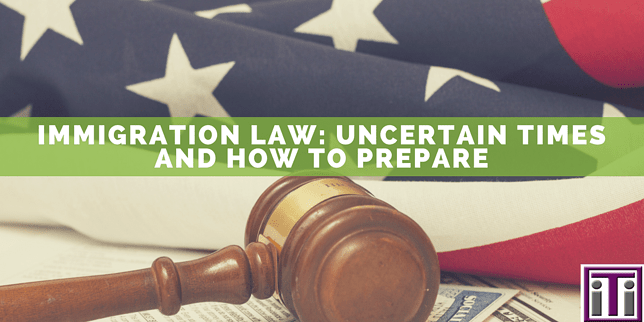 american flag and gavel, immigration law