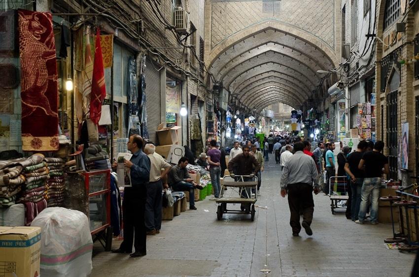 Streets of tehran, iran