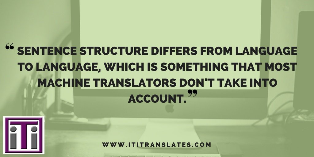 Machine Translation. Sentence Structure Quote