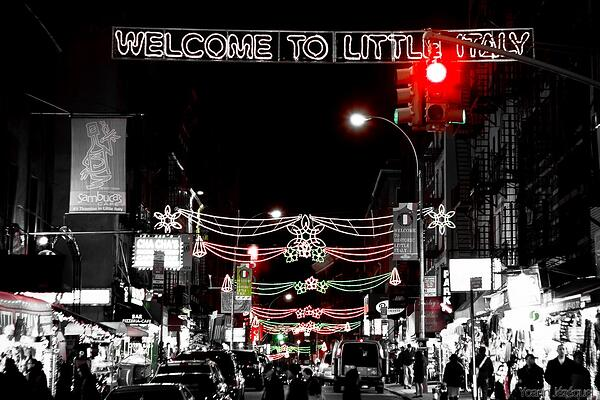 Welcome to little Italy sign in New York City