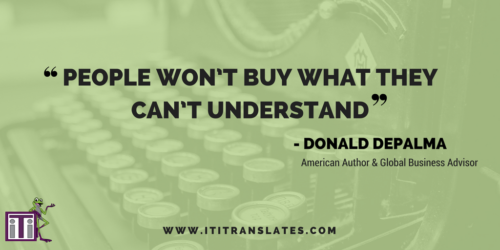 People won't buy what they can't understand