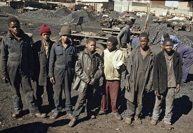 Group of young boys in South Africa