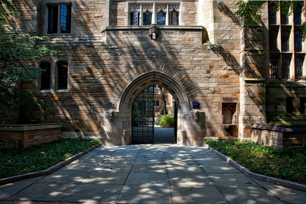 Yale University gate entrance to campus