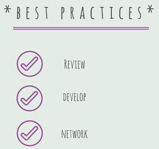 Best practices. review, develop, network