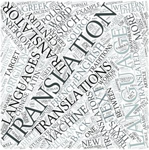 Word art compilation related to translation and languages
