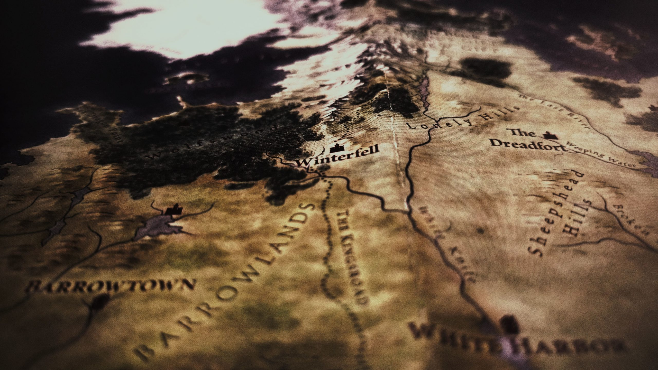 featured photo for how to create your own fictional language. Map of Westeros, fictional land from game of thrones