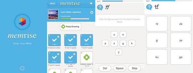 Memrise dashboard screenshot