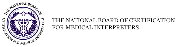 National board of certification for medical interpreters logo