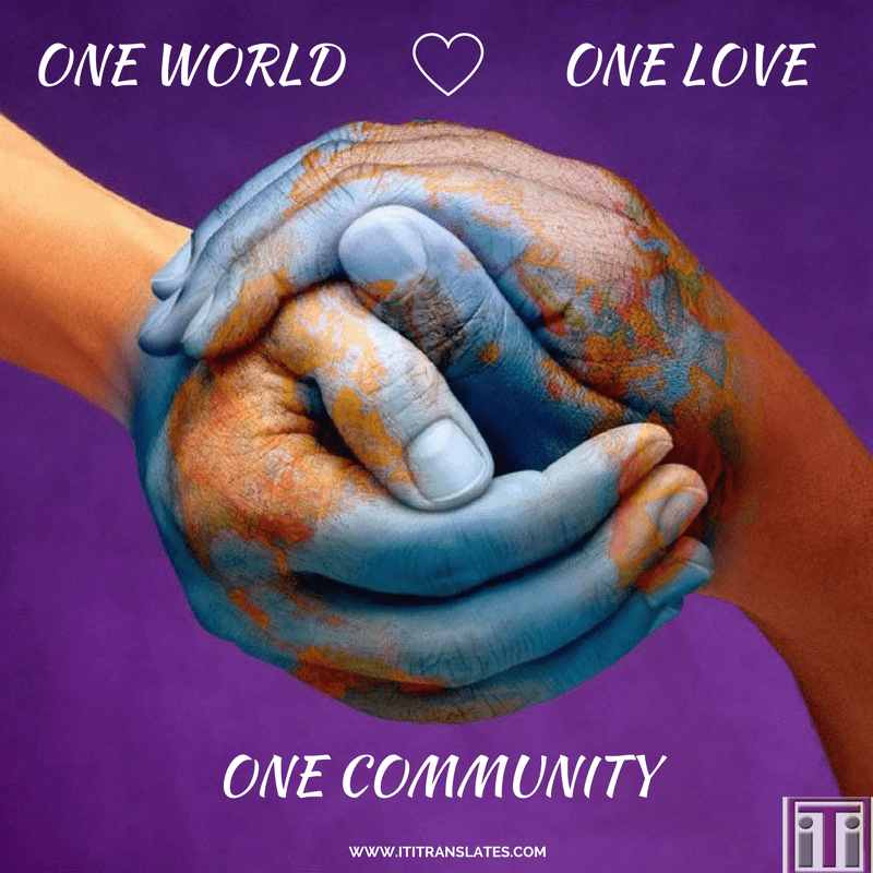 one world one love one community