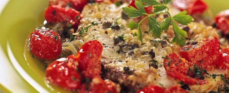 Italian dish  'pesce spada alla siciliana'