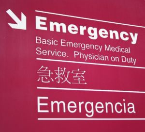 Emergency Room sign translated into different languages