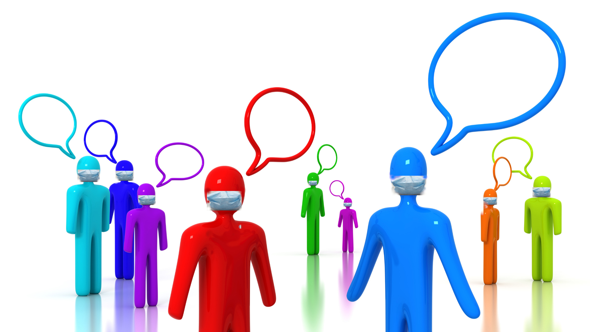 image of people talking