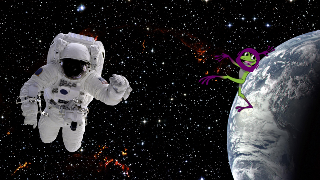an astronaut and terpii in space